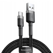 Кабель Baseus cafule Cable USB For Type-C 2A 3m Gray+Black CATKLF-UG1