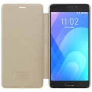 Чехол книжка NILLKIN Sparkle leather case для Meizu M6 Note (Gold)