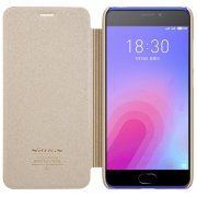 Чехол книжка NILLKIN Sparkle leather case для Meizu M6 (Gold)