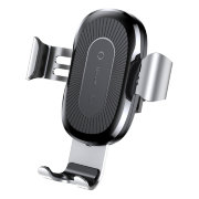 Автомобильный держатель Baseus Wireless Charger Gravity Car Mount (Gray)