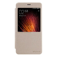 Чехол книжка NILLKIN Sparkle leather case для Xiaomi Redmi Pro (gold)