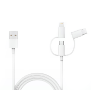 Кабель Xiaomi 3-in-1 Cable L=1m Micro USB/Type-C/Lightning White