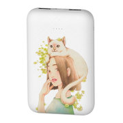 Внешний аккумулятор Baseus Mini JA Power Bank 10000mAh For Cat White PPX10-MD02