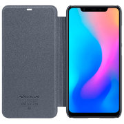 Чехол книжка NILLKIN Sparkle leather case для Xiaomi Mi8 (Gray)