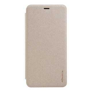 Чехол книжка NILLKIN Sparkle leather case для Meizu U10 (Gold)