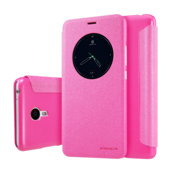 Чехол книжка NILLKIN Sparkle leather case для Meizu M3 Note (Pink)