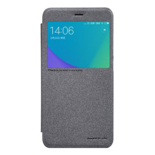 Чехол книжка NILLKIN Sparkle leather case для Xiaomi Redmi Note 5A (Gray)